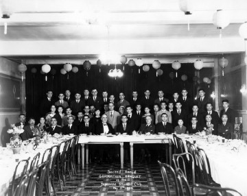 Second annual graduation banquet – UBC Japanese Students' Club  (May 3, 1934) Photo: Japanese Canadian Photograph Collection, Rare Books and Special Collections, UBC Library, JCPC 33.0004